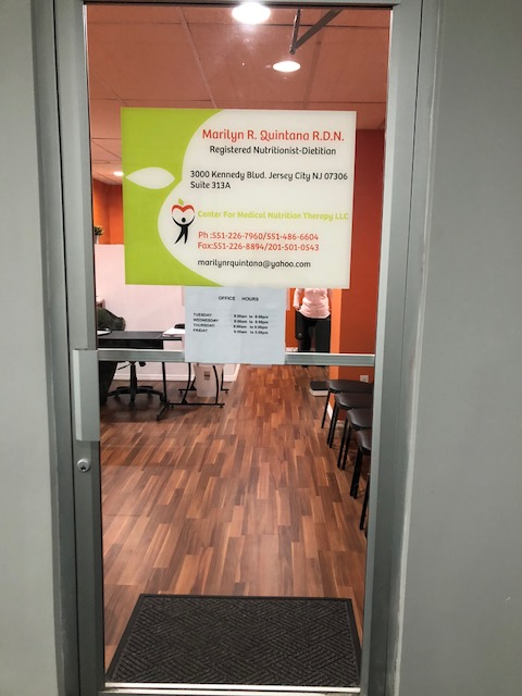 Office Door to Center of Medical Nutrition Therapy LLC